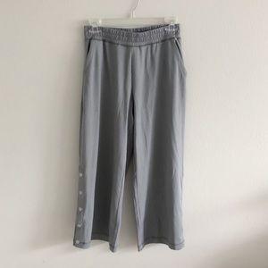 Aerie NWOT Side Button Sweat Pants